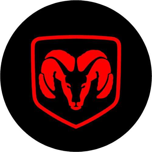 """Dodge Ram Black and Red Replacement Decal Sticker 6 Piece Set (2.5"""")"""