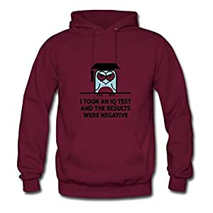 For Women Cotton Burgundy Personalized Unofficial Popular Iq Test 2 (2c)++2012 Hoody X-large