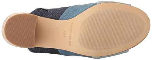 Dark Femme Mules Marc Fisher Blue pour Denim nH4wP5qwtx