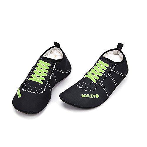8d3da3116f3582 best HYSENM Women Men Kids Aqua Socks Barefoot Water Shoes For Surf Pool  Yoga Beach Swim