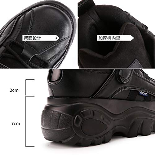 La Rosa b Negro Mujeres Deporte Yan De Casuales Moda Blanco Plata Invisible Microfibra Zapatos Aumento Las 40 Plataforma xZpZYq