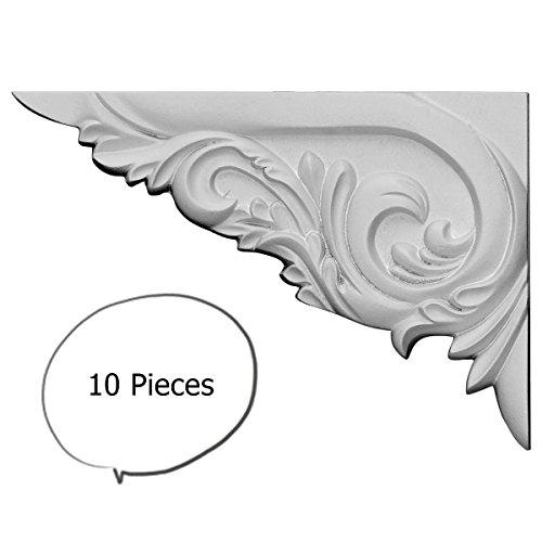 10 Pieces Victorian Tyrone Stair Bracket 8 Inch LEFT White Polyurethane M2004L by WI - Stair Victorian