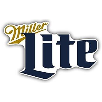 Amazon Com Miller Lite Beer Drink Car Bumper Sticker