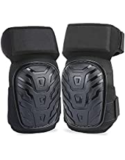 Voniry Knee Pads for Work, Construction Gel Knee Pads Tools, Heavy Duty Comfortable Anti-Slip Foam Knee Pads for Cleaning Flooring and Garden, Strong Stretchable Straps, 1 Pair
