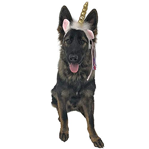 Midlee Dog Unicorn Headband Halloween Costume