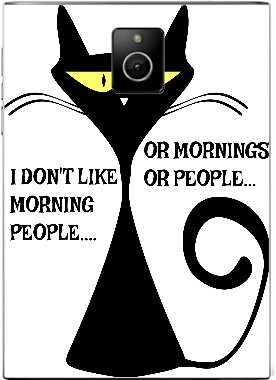 Amazon Com Black Cat Funny Quote Blackberry Passport Vinyl Decal