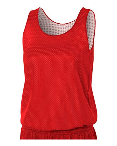 Red/White Ladies Large Women's Reversible Mesh Tank (Blank) Uniform Jersey Top (Ladies Personalized Basketball)