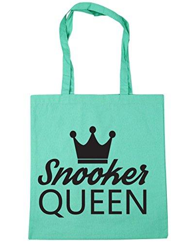HippoWarehouse billar Reina bolsa de la compra bolsa de playa 42cm x38cm, 10litros verde menta