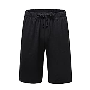 OThread & Co. Men's Cotton Pajama Shorts Loose Lounge Shorts Soft Sleepwear Pants