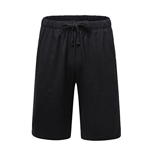 OThread & Co. Men's Cotton Pajama Shorts Loose Lounge Shorts Soft Sleepwear Pants (X-Large, - Cotton Short Mens Organic