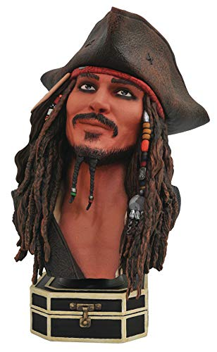 DIAMOND SELECT TOYS JAN192541 Legends in 3-Dimensions: Pirates of The Caribbean Jack Sparrow Half-Scale Resin Bust, ()