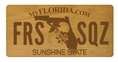 Talisman Designs Get Real Beechwood Vanity License Plate Cheese Board, Florida