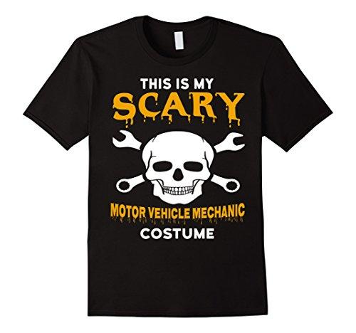 Mens Scary Motor Vehicle Mechanic Halloween Costume T-Shirt XL Black