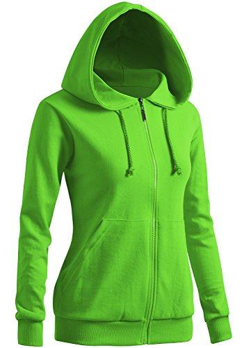 CLOVERY Women's Casual Hoodie Long Sleeve Hoodie LightGreen US S/Tag S
