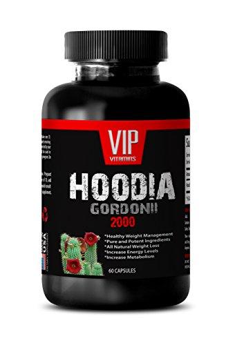 (VIP VITAMINS Fat burning body shaper - HOODIA GORDONII EXTRACT 2000mg - Hoodia ultra - 1 Bottle 60)