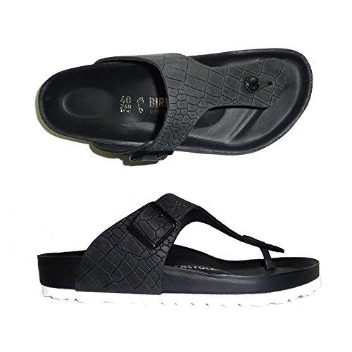 Birkenstock - Sandalias de Piel para mujer negro CROCO BLACK 44 CROCO BLACK