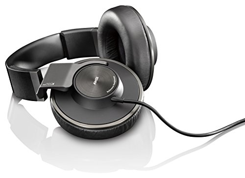AKG K550MKII Sealed Headphone New Generation 50mm Diameter Dynamic Driver Adopted Reference Black K550MKIIBLK
