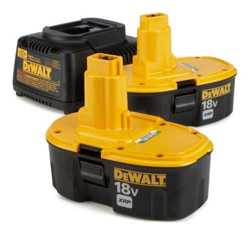 (2) Dewalt Dc9096 XRP Battery Batteries Pack + Charger