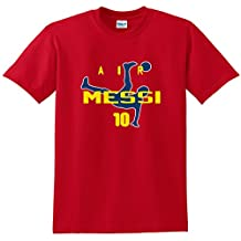 "Red Lionel Messi FC Barcelona ""AIR"" T-Shirt"