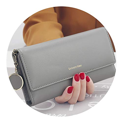 New Fashion Women Wallets Long Style Multi-functional wallet Purse,Gray