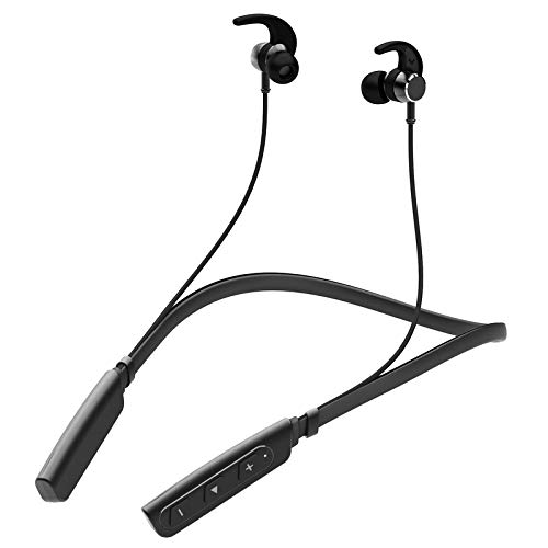 CROGIE Neckband in-Ear Wireless Earphones with 6 Hours Playtime,IPX5 Sweatproof Headphones, Latest Bluetooth 5.0 & Flexible Headset with in-Built Microphone (Red)