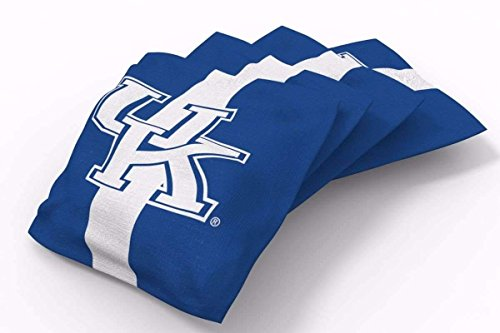 Kentucky Wildcats Bean Bag - PROLINE 6x6 NCAA College Kentucky Wildcats Cornhole Bean Bags - Stripe Design (A)