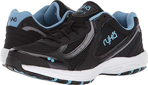 Ryka Women's Dash 3 Walking Shoe, Black/Meteorite/nc Blue, 8 M US from Ryka