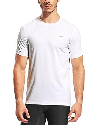 Baleaf Men's Quick Dry Active Short Sleeve T-Shirt Running Fitness Shirts