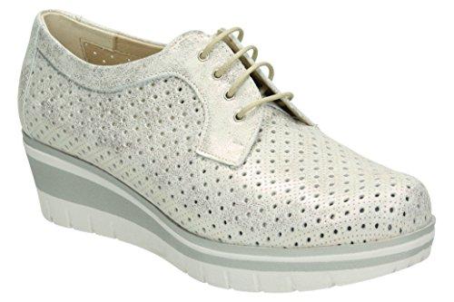 pitillos zapato cordon plata 38