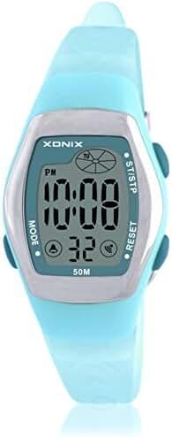 RetroLEDDigital multi-function watch/Waterproof swim girls digital watch-C