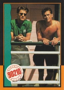 Jason Priestly and Luke Perry Beverly Hills 90210 trading card #55