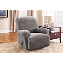 Sure Fit Stretch Pique - Recliner Slipcover - Flannel Grey
