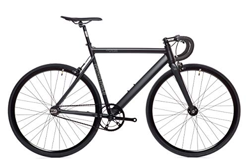 Matte Black Black Label 6061 v2 Aluminum State Bicycle | Fixed Gear | 59cmDrop Bar