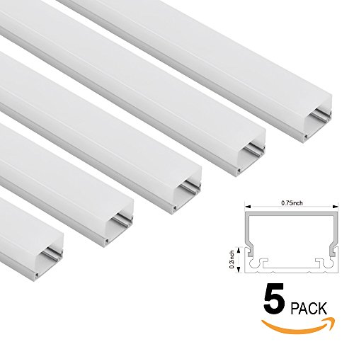 How to diffuse led light strips hue home lighting 5 pack shallow flush mountrecessed mount aluminum u channel 33ft aluminum extrusion aloadofball