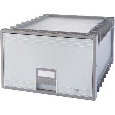 Legal Archive Box with Lock Color: Grey