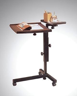 Adjustable Mobile Espresso Laptop Computer Caddy Cart Stand