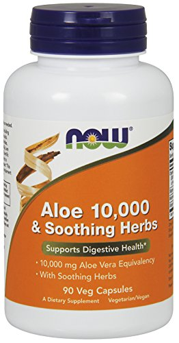 Now Foods Aloe Vera Soothing Herbs Veg Capsules, 90 Count