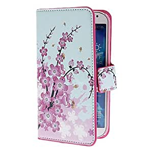 Mini Elegant Flower Pattern PU Leather Case with Stand and Card Slot for Samsung Galaxy S4 I9500