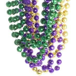 Mardi Gras Disco Ball Beads 1 dozen
