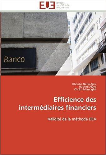 Efficience des intermédiaires financiers  Validité de la méthode DEA 5e3f12d3b43e