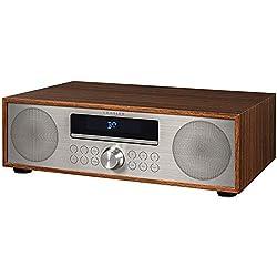 Crosley CR3501A-WA Fleetwood Bluetooth FM Clock Radio and CD Player, Walnut
