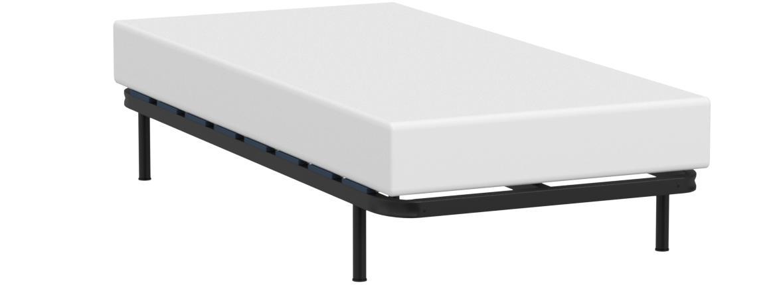HOGAR24 Somier multiláminas con reguladores lumbares (4 Patas Incluidas)-Altura de Las Patas 25,5cm- 90x190cm