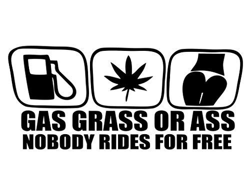 Gas Grass Ass Bumper Sticker - 2
