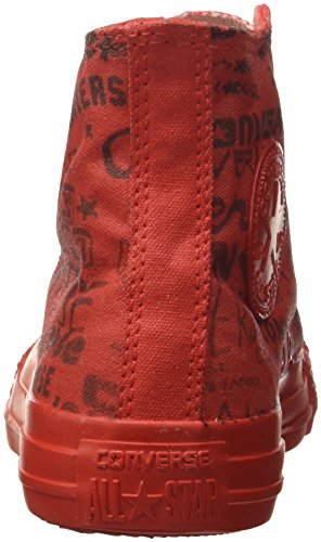 Converse Star Hi Canvas Ltd, Montantes Mixte Adulte Rouge