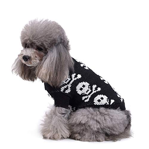 ZDJR Pet Knit Hoodie Sweater for Small Dogs & Cats Knitwear Puppy Winter Clothes,S (Take Your Cat And Leave Your Sweater)