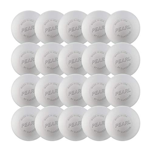 The Pearl by Guardian - Pearl X Greaseless Lacrosse Balls (White, 20 Pack)