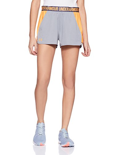 2 Peel Under True Mujer 0 Short Play Armour orange Pantalones Cortos Heather Up Gray Deportivos wCrxCIq6