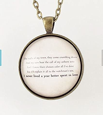 902ebe94c3d65 Amazon.com: Personalized Song Lyric Necklace, Custom Pendant For ...