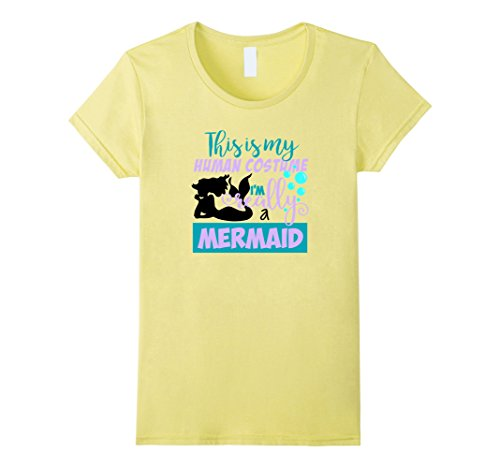 Costume Comic Con Ideas Cool (Womens Mermaid Human Costume T-Shirt Love Mermaids Women Girls Gift Large)