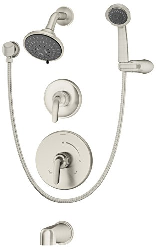 Handshower Satin Nickel - Symmons 5506-STN-TRM Elm Tub, Shower and Handshower Trim, Satin Nickel